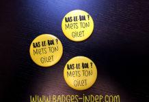 Badge personnalisé gilet jaune