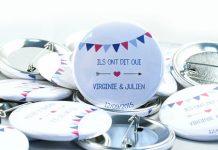 Badge mariage personnalisé pour vos invités