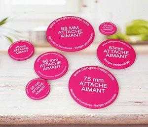 Tous les badges aimanté à personnaliser