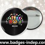 Badge personnalisé événement rond