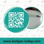 Badge professionnel personnalisé pour entreprise