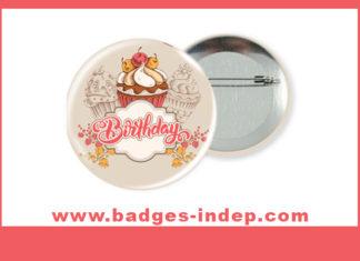 Badge rond anniversaire avec épingle ou décapsuleur