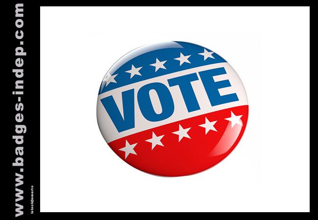 Badge 25mm personnalisé ou pins pour une élection