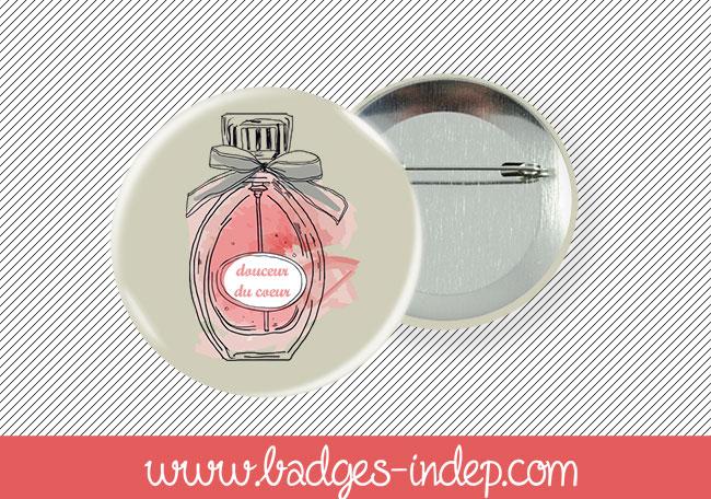 Badge publicitaire personnalisé