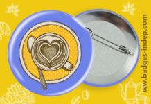 Badge personnalisé ou badge bouton rond