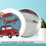 Badge avec logo ou image pour un événement
